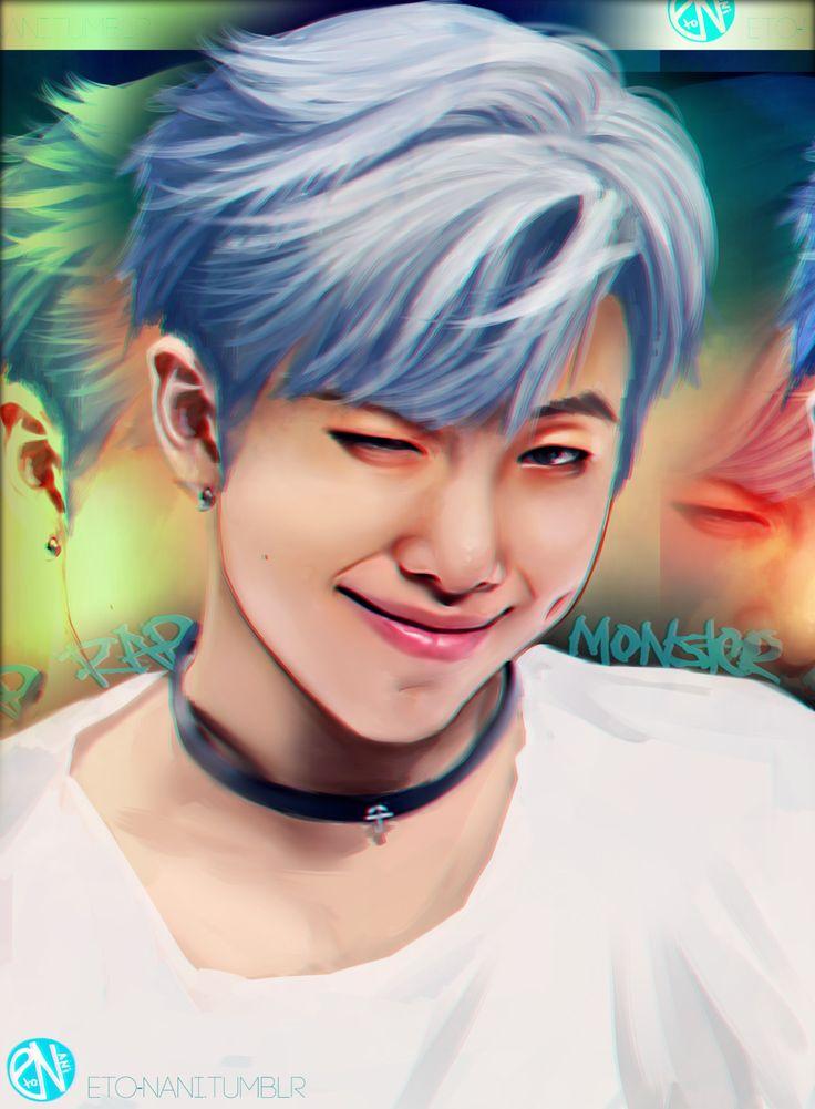 namjoon fanart | ♡ by Achyue | Bts drawings, Bts chibi |Namjoon Bts Anime
