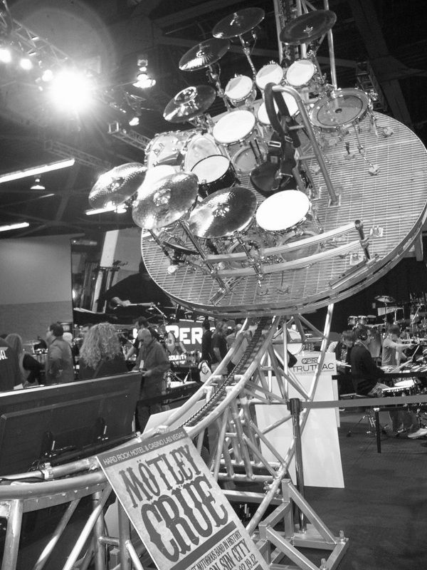Motley Crue rollercoast drumset. Anyone up for a ride?    See more from Daddy O's at the 2012 NAMM show here:  https://www.facebook.com/media/set/?set=a.10150530612417515.376638.82132332514=3