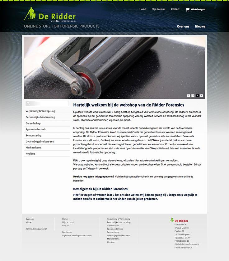 Website design voor De Ridder Forensics