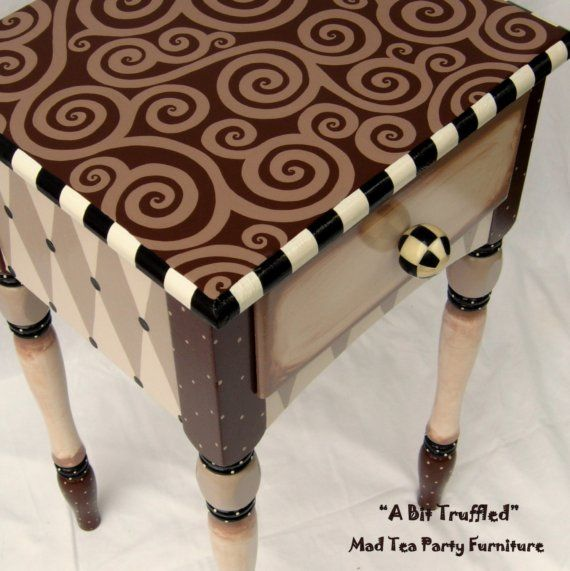 Love this painted End Table but different colours