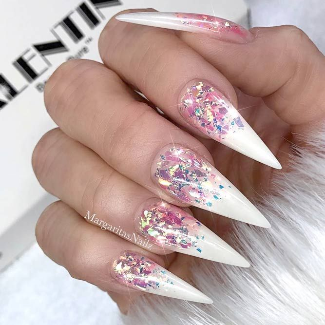 Fantastic Ideas For Your Pointy Nails Naildesignsjournal Pointy Nail Designs Pointy Nails Mylar Nails
