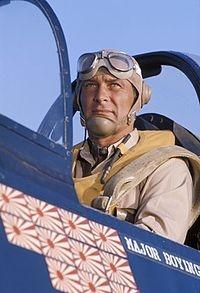 """Robert Conrad as Major Gregory """"Pappy"""" Boyington in Baa Baa Black Sheep/Black Sheep Squadron"""