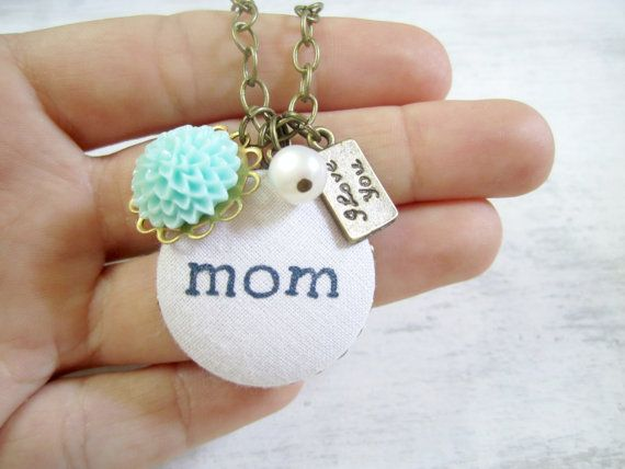 Mom Necklace Personalized Gift for Mom Jewelry by clammyscloset, $28.00