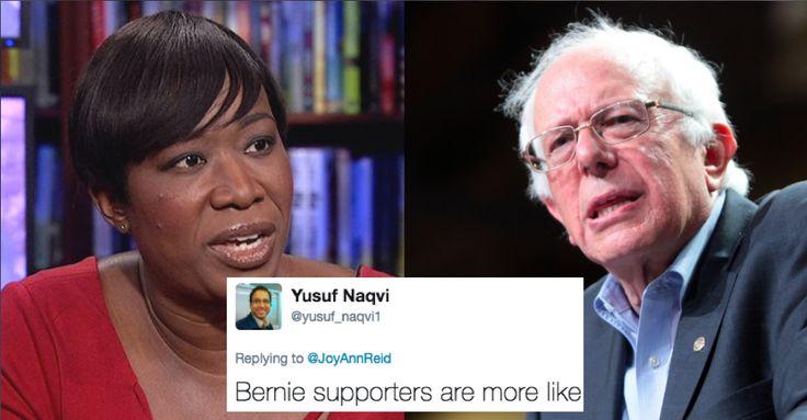 "Things that make you go hmm: ""Democrat"" Joy Ann Reid calls Bernie supporters freeloaders."