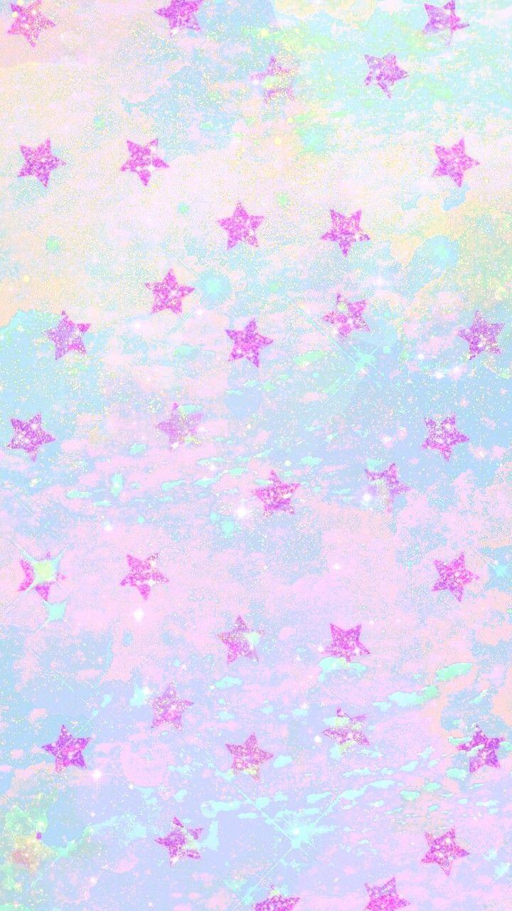 Pastel Kawaij Stars Made By Me Stars Pastel Kawaii Colorful Glitter Galaxy Wallpapers Bac Background Wallpaper Tumblr Cute Wallpapers Kawaii Wallpaper