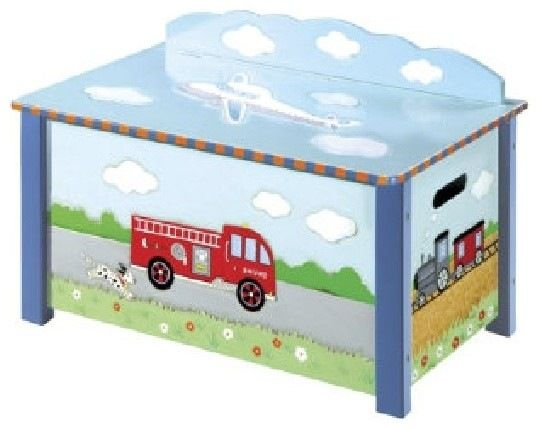Transportation Toy Box transitional nursery decor
