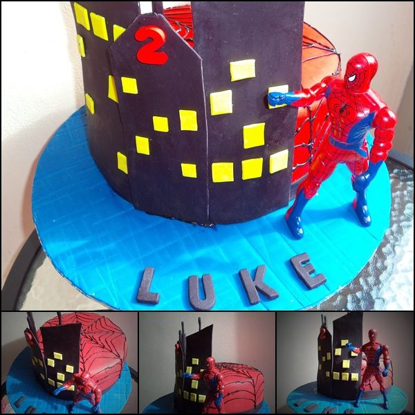 Spiderman Inspired Birthday Cake