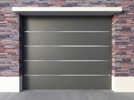 47 best garage doors modern images on pinterest modern for Portones de hierro para garage