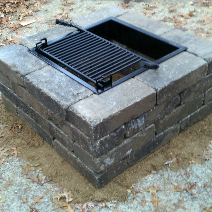 17 best images about fire pits on pinterest fire pits for Square fire ring