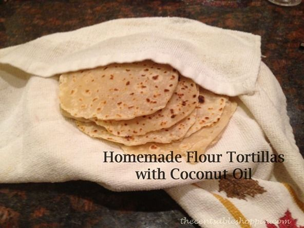 Homemade tortillas with coconut oil