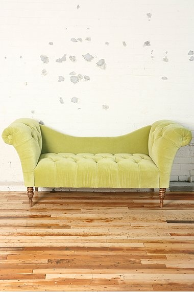 Tufted Butter Yellow Chaise Lounge : green velvet chaise lounge - Sectionals, Sofas & Couches