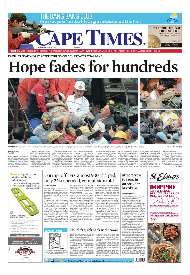 News making headlines: Hope fades for hundreds