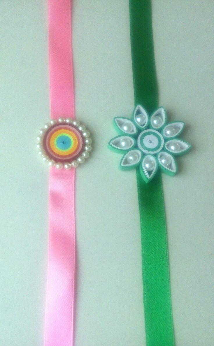 Quilled rakhi... paper craft