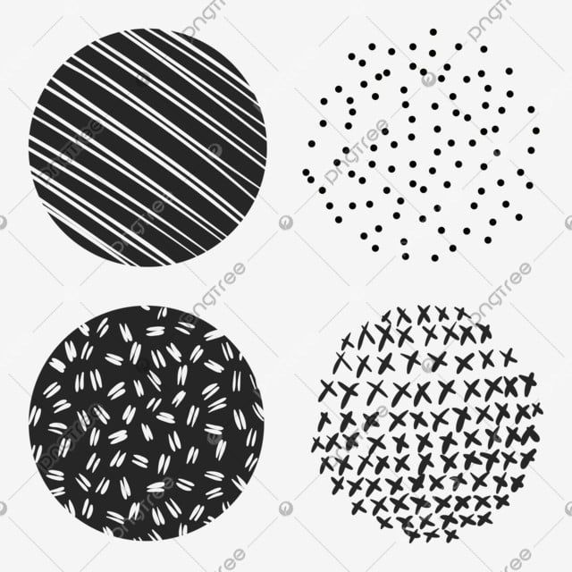 Memphis Circles Hand Drawn Round Shapes Geometric Grunge Polka Dot Ornament Design Isolated Decorative Objects Vintage Colorful Doodle Png And Vector With Tr Ornaments Design Circle Doodles Decorative Lines
