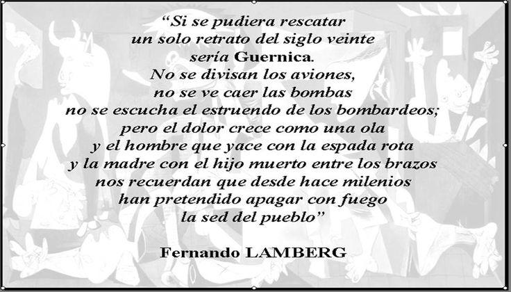 Caminos Del Viento Guernica Fernando Lamberg Guernica Frases Inteligentes Frases