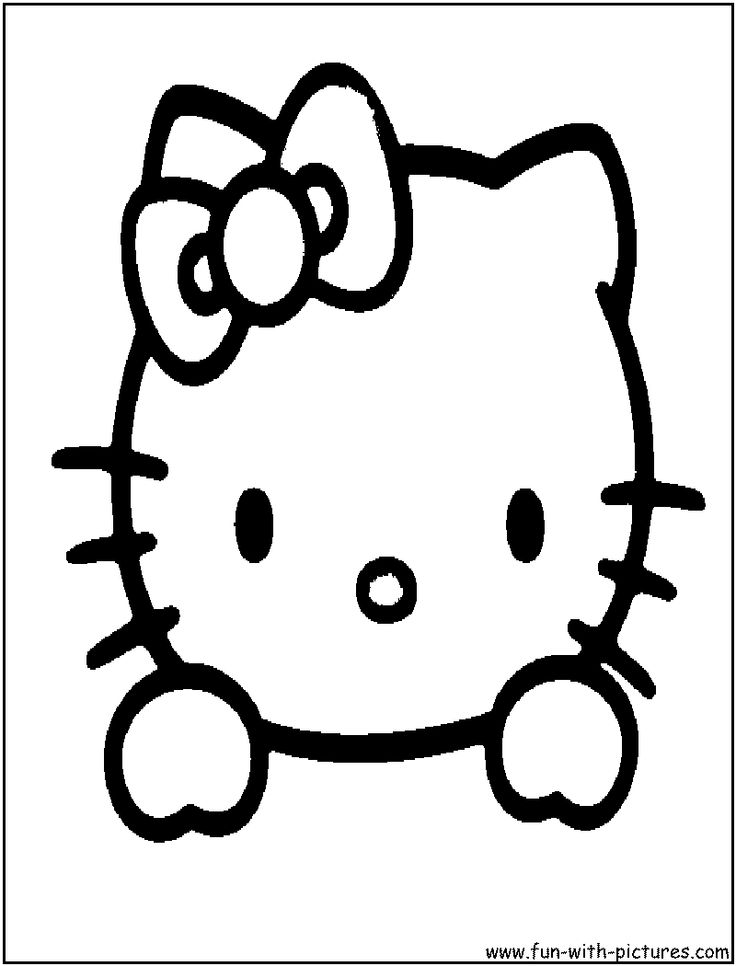 Hello Kitty Head Coloring Pages : Hello kitty face coloring page kiddos in a car