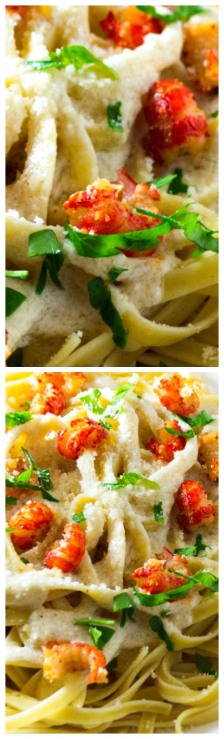 Crawfish Fettuccine Alfredo ~ Spice up homemade Fettuccine Alfredo by adding in tender, delicious crawfish and a healthy dash of Cajun seasoning... Perfect!