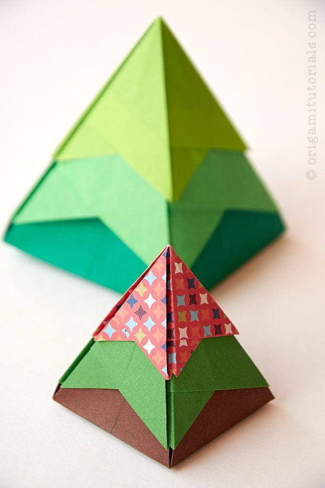 Christmas Tree Origami Box Origami Tutorials Origami Box Origami Christmas Origami