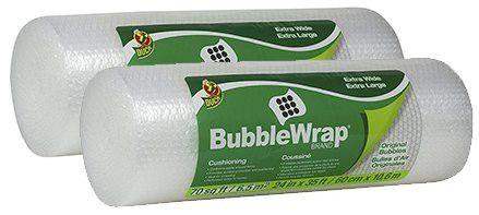 Duck Brand Bubble Wrap Original Protective Packaging AneNH 2Pack 24 in. x 35 ft.