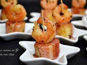 Bouchées de crevettes et banane au lard, épicées aux baies de Timur • Hellocoton.fr