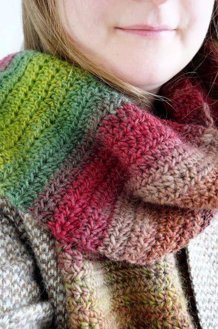 Winter Woodland Scarf Free Crochet Pattern Crochet