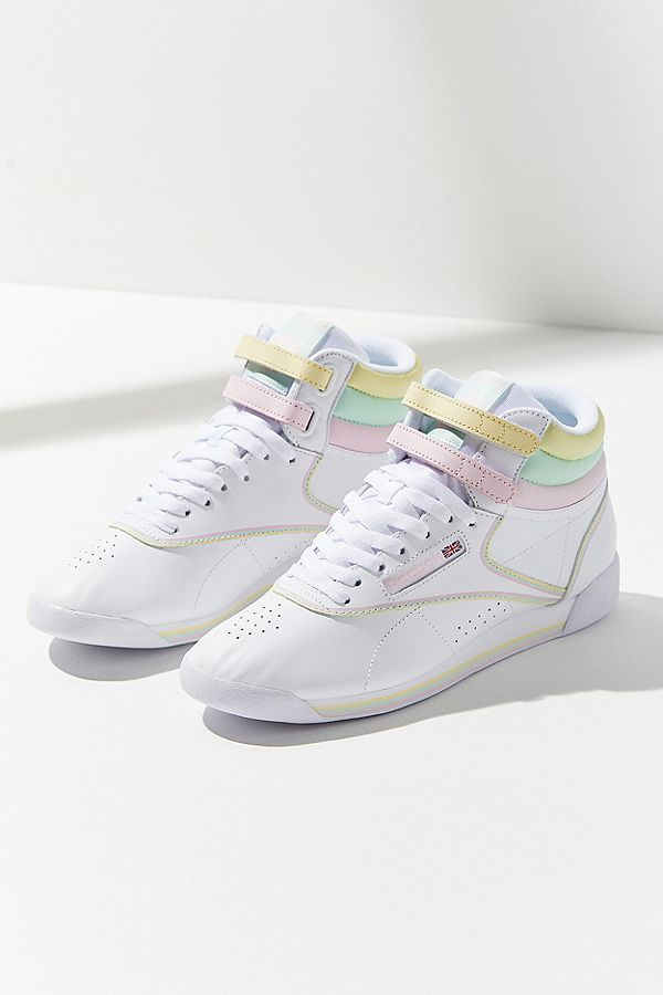 Slide View  6  Reebok X GLOW Freestyle Hi Pastel Sneaker  be731c5e1