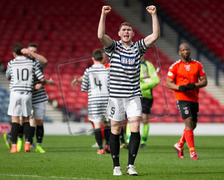 Queen's Park's Ryan McGeever celebrates victory after the SPFL League Two game between Queen's Park and Clyde.
