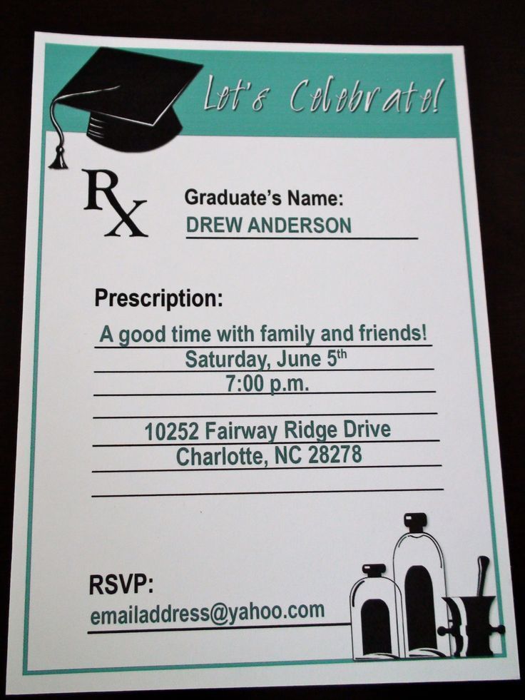 graduation party invitation templates for word%0A Pharmacy Graduation Party Invitation by TransformAndGrow on Etsy  in