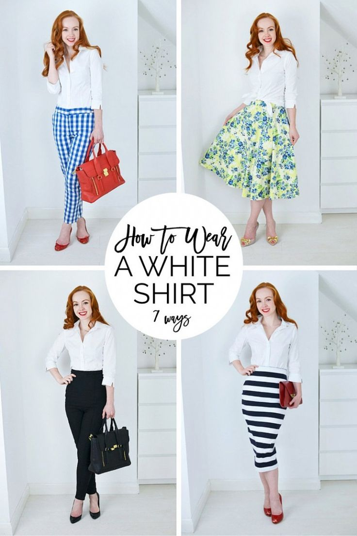 How to wear a white shirt - read the post for 7 different ways to style a plain white shirt