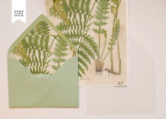 Oh So Beautiful Paper: DIY Tutorial: Vintage Fern Wedding Invitations