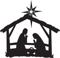 Nativity Scene Silhouette | nativity silhouettes