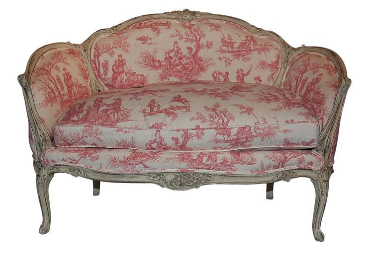 Eye For Design Decorating With Red Toile Chaise Settee