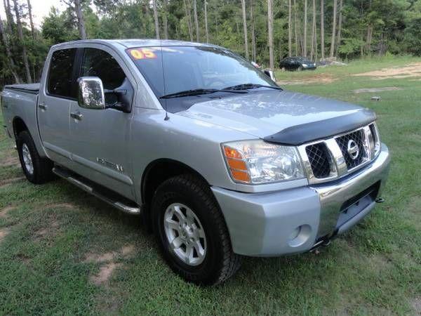2005 NISSAN TITAN CREW CAB 4WD OFF RD NEW TIRES L@@K (exit91 off i-26 CHAPIN SC) $11995