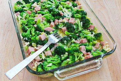 Recipe for Broccoli, Ham, and Mozzarella Baked with Eggs from Kalyn's ...