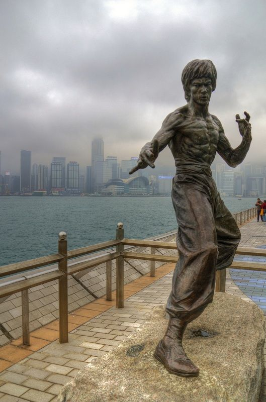 The Bruce Lee statue in Hong Kong is a memorial figure of deceased martial artist, Bruce Lee.[1] The Hong Kong memorial was built on behalf of Bruce Lee, who died on 20 July 1973 at the age of 32.