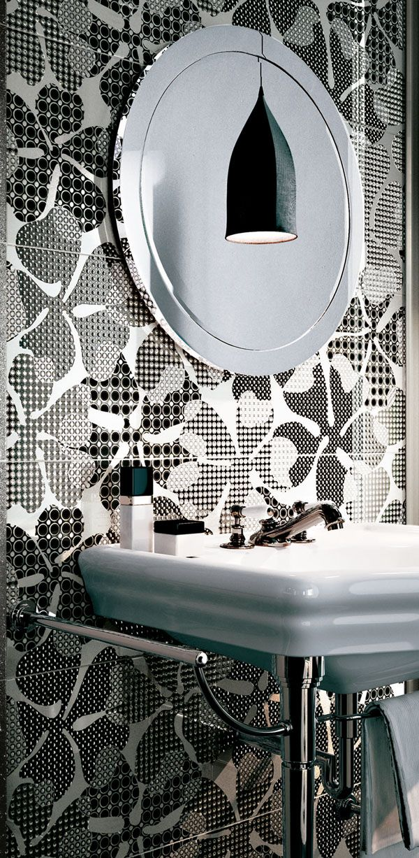 AVA Ceramica - EDEN Collection - Made in Italy - www.avaceramica.it #tiles #white #black