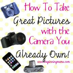 Whether you use an iPhone, a big fancy camera or something inbetween, these simple tips will help you take better pictures of your kids and family.  How to Take Great Pictures with the Camera You Already Own by www.thepinningmama.com