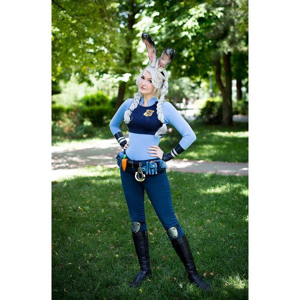 bunny girl police cosplay 160 liked on polyvore featuring costumes green leather - Girls Cop Halloween Costume