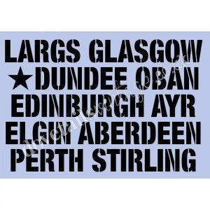 Scottish Towns & Cities A3 stencil by Dovetails £14.95 #dovetails #dovetailsvintage #anniesloan #chalkpaint #paintedfurniture #stencil #sevenoaks
