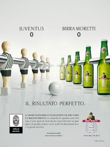 Annuncio speciale per la testata Hurrà Juventus per il lancio della birra Moretti Zero.