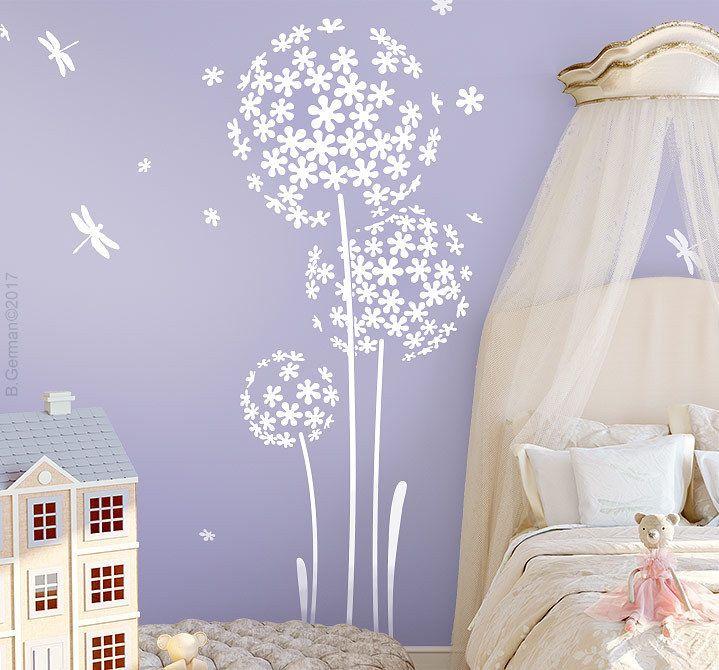 Popular Details zu Wandtattoo Blume Wandaufkleber Wandsticker Wohnzimmer Deko Kinderzimmer wa