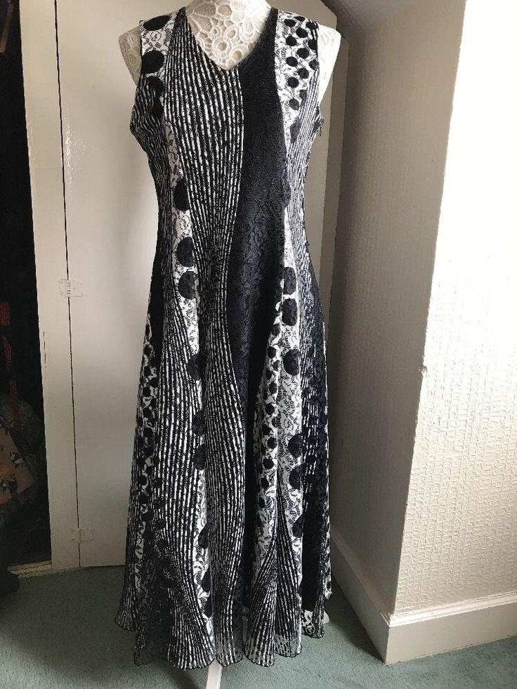 Lovely Dress Size 10 By NassC Black/white    eBay