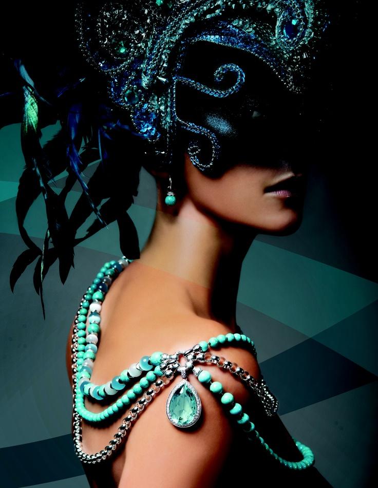 Kagi #Birds of Paradise #Blue, #Turquoise, #Aquatica Luxe