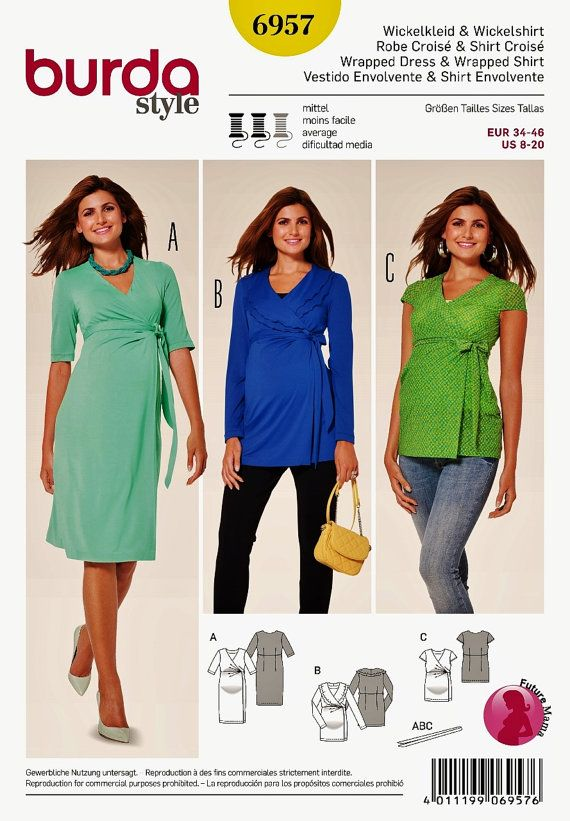 Maternity Dress Pattern  Maternity Top Pattern  Sz 8 to by blue510
