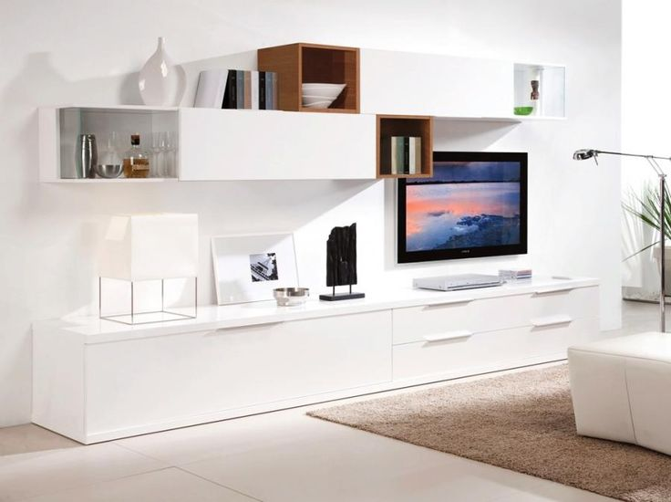 White Wall TV Storage