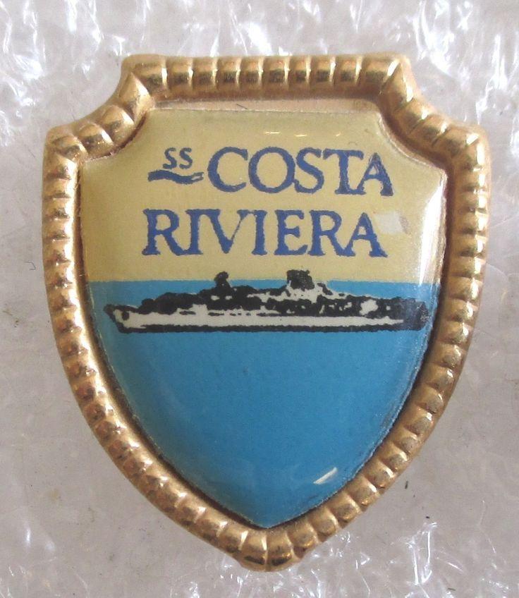 Vintage Costa Riviera-Costa Cruise Lines-Cruise Ship Souvenir Collector Pin | eBay