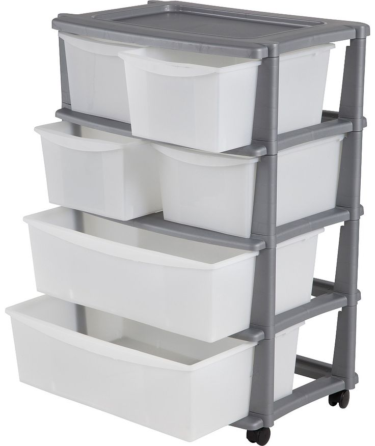 Buy 6 Drawer Plastic Wide Storage Tower Unit - Silver at Argos.co.uk - Your Online Shop for Plastic storage boxes and units.