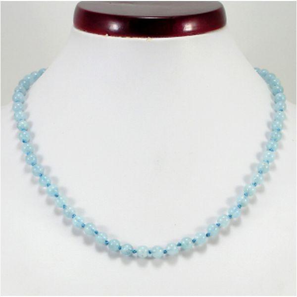 Akvamarin nyaklánc - MyKriszta, ásvány ékszer készítő. MyKriszta egyedi ásvány kristály ékszerei.