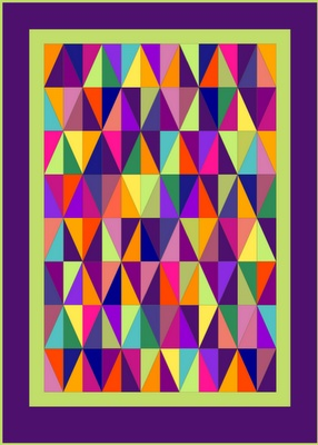 Lilys Quilts: Harlequin Quilt Finished