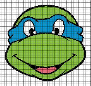 Home / Cartoons / Teenage Mutant Ninja Turtles – Leonardo (Chart/Graph AND Row-by-Row Written Crochet Instructions) – 01  Teenage Mutant Nin...